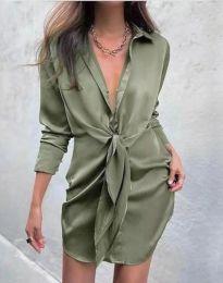 Šaty - kód 5866 - olivová  zelená