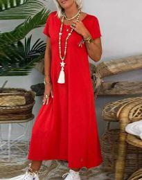 Šaty - kód 6357 - 2 - červená