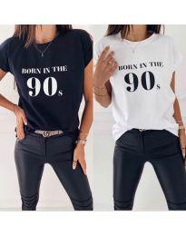 Tričko - kód 947 - 2 - černá
