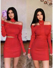 Šaty - kód 3982 - červená