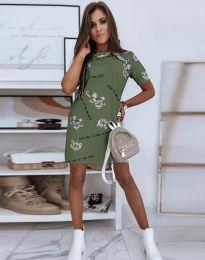 Šaty - kód 2906 - olivově zelená