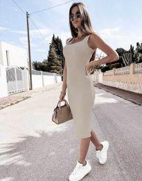 Šaty - kód 5964 - barva šampaňské