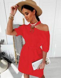 Šaty - kód 5848 - 3 - červená