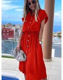 Šaty - kód 0014 - červená