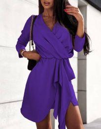Šaty - kód 2879 - tmavě fialová