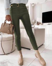 Kalhoty - kód 1567 - 2 - olivová  zelená