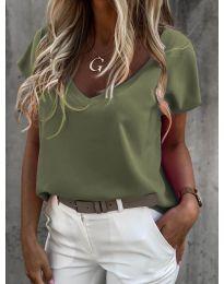 Tričko - kód 0589 - olivová  zelená