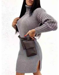 Šaty - kód 6867 - tmavě šedá