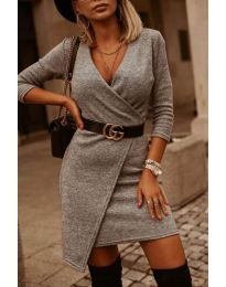 Šaty - kód 9977 - šedá