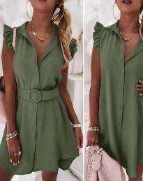 Šaty - kód 7411 - olivově zelená