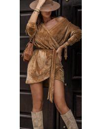Šaty - kód 238 - hněda