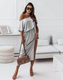 Šaty - kód 11973 - tmavošedý
