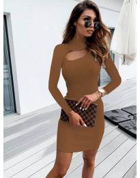 Šaty - kód 883 - hněda