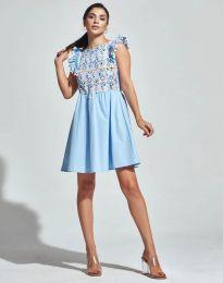 Šaty - kód 1482 - 4 - světle modrá