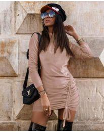 Šaty - kód 9545 - pudrová