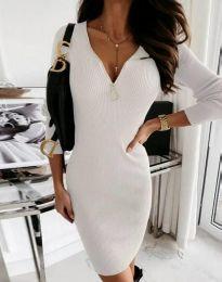 Šaty - kód 9807 - 1 - bílá