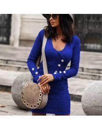 Šaty - kód 4516 - modrá