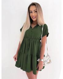 Šaty - kód 8889 - olivová  zelená