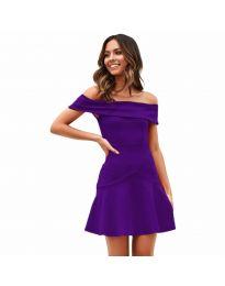 Šaty - kód 611 - tmavě fialová