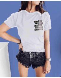 Tričko - kód 437 - bíla