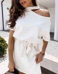 Šaty - kód 0256 - 2 - bíla