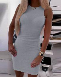 Šaty - kód 9560 - šedá
