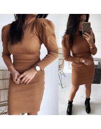 Šaty - kód 3519 - hněda
