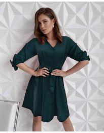 Šaty - kód 9028 - olivová  zelená