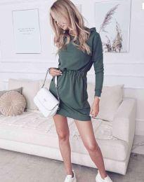 Šaty - kód 7846 - olivová  zelená