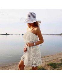 Šaty - kód 4849 - bílá