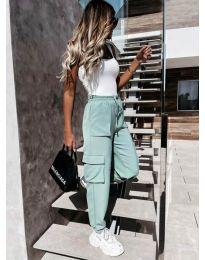 Дамски свободен панталон в цвят мента - код 11803