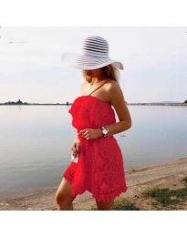 Šaty - kód 4849 - červená