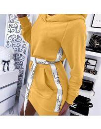 Šaty - kód 4483 - hořčičná