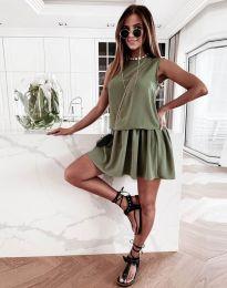 Šaty - kód 6612 - 2 - olivově zelená