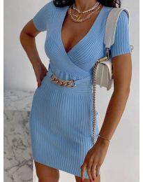Šaty - kód 4305 - světle modrá