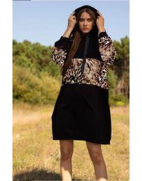 Šaty - kód 4546 - 5 - černá