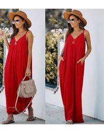 Šaty - kód 0209 - červená