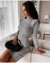 Šaty - kód 8484 - šedá