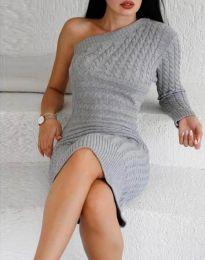 Šaty - kód 2588 - šedá