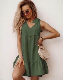 Šaty - kód 7206 - olivově zelená