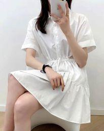 Šaty - kód 6292 - bílá