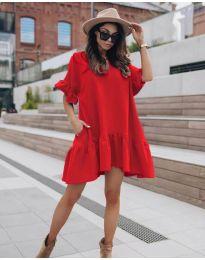 Šaty - kód 748 - červená