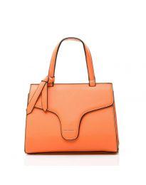 Дамска чанта в оранжево изчистен модел с цип - NH2851