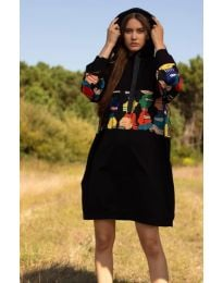 Šaty - kód 4546 - 3 - černá