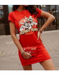 Šaty - kód 0303 - 3 - červená
