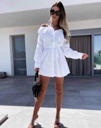 Šaty - kód 1457 - bílá