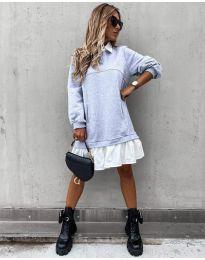 Šaty - kód 5516 - šedá