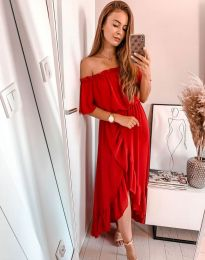 Šaty - kód 0186 - 1 - červená