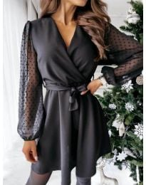 Šaty - kód 1600 - 1 - černá