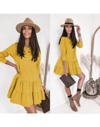 Šaty - kód 8486 - žlutá